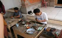 Handarbeid op Bali.