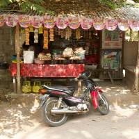 Een winkeltje langs de weg op Bali.