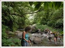 Trekken door de jungle van Sawan.