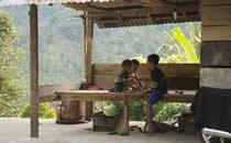 De lokale bevolking van Bali Indonesië.