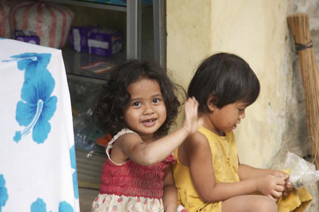 De vriendelijke bevolking van Bali.