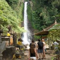 Een waterval op Bali.